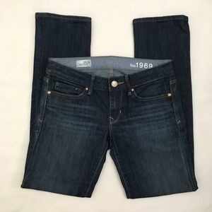 GAP 1969 Real Straight Dark Wash Denim Jeans 26/2p